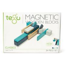 Tegu Magnetisches Holzset blau 24 Teile