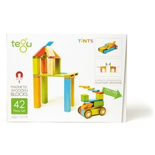 Tegu Magnetisches Holzset farbig 42 Teile