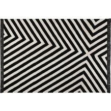 carpets&co. Teppich Edgy Corners GO-0011-01 schwarz-weiss 80x150