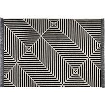 carpets&co. Teppich Irregular Fields GO-0008-01 schwarz-weiss 80x150