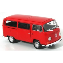 Cars & Co Company Welly VW Bus T2 1972 rot 1:24