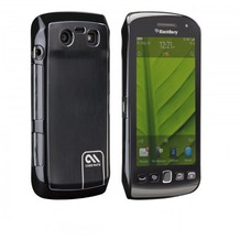 case-mate barely there Brushed Aluminum für BlackBerry Torch 9860, schwarz