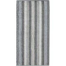 cawö Duschtuch anthrazit 70 x 140 cm gestreift