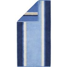 cawö Duschtuch blau 70 x 140 cm seitliche Streifen