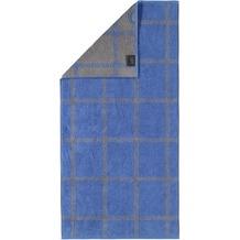 cawö Duschtuch blau 80 x 150 cm, Netzmuster