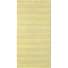 cawö Duschtuch lemon 70 x 140 cm Querstreifen