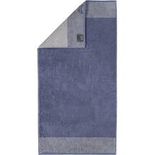 cawö Duschtuch nachtblau 80 x 150 cm Querstreifen am Saum