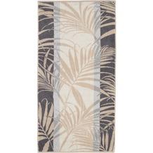 cawö Duschtuch sand 70 x 140 cm, Pflanzenmuster