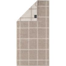 cawö Duschtuch sand 80 x 150 cm kariert