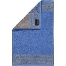 cawö Gästetuch blau 30 x 50 cm, Querstreifen am Saum