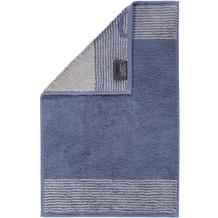 cawö Gästetuch nachtblau 30 x 50 cm, beige Streifen