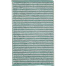 cawö Gästetuch seegrün 30 x 50 cm gestreift