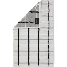 cawö Gästetuch weiß 30 x 50 cm kariert