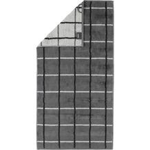 cawö Handtuch anthrazit 50 x 100 cm, Netzmuster