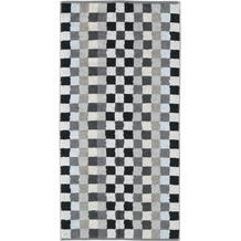 cawö Handtuch anthrazit 50 x 100 cm, Schachbrettmuster