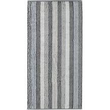 cawö Handtuch anthrazit 50 x 100 cm, enge Streifen