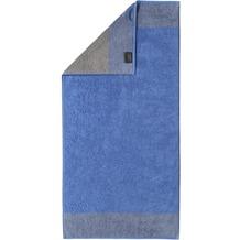 cawö Handtuch blau 50 x 100 cm, Querstreifen am Saum