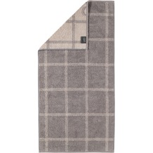 cawö Handtuch graphit 50 x 100 cm, Netzmuster