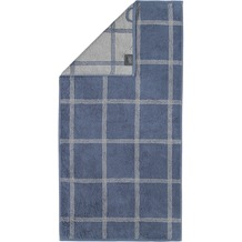 cawö Handtuch nachtblau 50 x 100 cm, Netzmuster