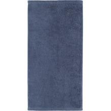 cawö Handtuch nachtblau 50 x 100 cm, kleiner Saum