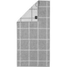 cawö Handtuch platin 50 x 100 cm, Netzmuster