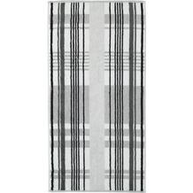 cawö Handtuch platin 50 x 100 cm, kariert