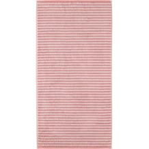 cawö Handtuch rouge 50 x 100 cm, graue Querstreifen