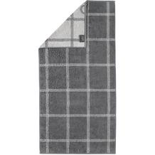 cawö Handtuch schiefer 50 x 100 cm, Netzmuster