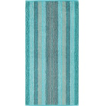 cawö Handtuch türkis 50 x 100 cm, mehrfarbige Streifen