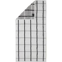 cawö Handtuch weiß 50 x 100 cm kariert