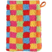 cawö Lifestyle Cubes Waschhandschuh multicolor 16x22 cm