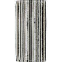 cawö Lifestyle Streifen Saunatuch kiesel 70x180 cm