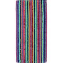 cawö Lifestyle Streifen Saunatuch multicolor 70x180 cm dunkel