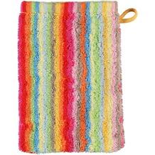 cawö Lifestyle Streifen Waschhandschuh multicolor 16x22 cm hell