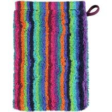 cawö Lifestyle Streifen Waschhandschuh multicolor 16x22 cm dunkel