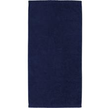 cawö Lifestyle Uni Handtuch navy 50x100 cm