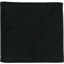 cawö Lifestyle Uni Seiflappen schwarz 30x30 cm