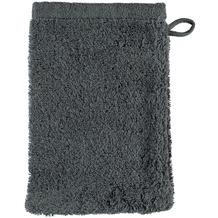 cawö Lifestyle Uni Waschhandschuh anthrazit 16x22 cm