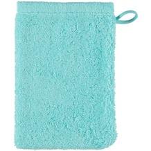 cawö Lifestyle Uni Waschhandschuh eisgrün 16x22 cm