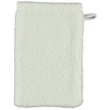 cawö Lifestyle Uni Waschhandschuh weiß 16x22 cm