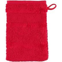 cawö Noblesse² Uni Waschhandschuh rot 16x22 cm