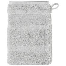 cawö Noblesse² Uni Waschhandschuh silber 16x22 cm