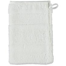 cawö Noblesse² Uni Waschhandschuh weiß 16x22 cm