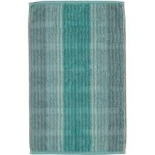 cawö Noblesse Cashmere Streifen Gästetuch mint 30x50 cm