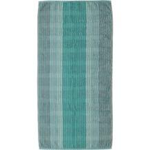 cawö Noblesse Cashmere Streifen Handtuch mint 50x100 cm