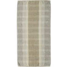 cawö Noblesse Cashmere Streifen Handtuch sand 50x100 cm