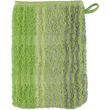 cawö Noblesse Cashmere Streifen Waschhandschuh kiwi 16x22 cm
