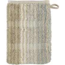 cawö Noblesse Cashmere Streifen Waschhandschuh sand 16x22 cm