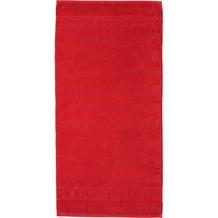 cawö Noblesse Uni Duschtuch rot 80x160 cm