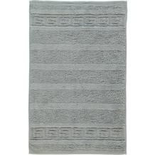cawö Noblesse Uni Gästetuch platin 30x50 cm